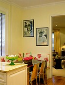 Residential dining room is an inviting meal location