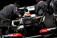 22.02.2012, Barcelona, Spain, Sergio Perez MEX, Sauber F1 Team _ Formula 1 Testing, day 2 _ Formula 1 World Championship