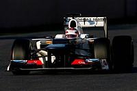 Kamui Kobayashi JAP, Sauber F1 Team ,F1,Testing Barcelona, Spain ,Barcelona .