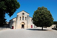 Church in former Cistercian monastery Silvacane Abbey near La Roque-d'Antheron, Bouches-du-Rhone department, Provence, France