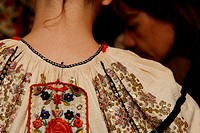 The back of a traditionally embroidered dress.