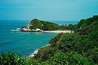A view of the beaches at Tayrona National Park