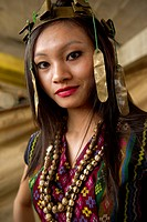 Mizoram a state in Northeast India is home to several tribes each having a unique cultural identity. This portrait showcases the costume and jewelry o...