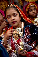 The Gangaur festival is celebrated in Rajasthan in worship of Lord Shiva and Gauri, seeking blessings of conjugal bliss. Wooden idols of Shiva and Gau...