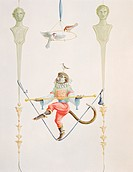 Monkey decorations in the style of the 17th century at a house outside of Oslo, Norway, painted by Portuguese trompe l´oeil muralist Rui Paes. , Locat...