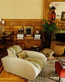 Retro Armchair with Traditional Furnishings in Living Room
