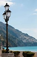 A street lamp near Spiaggia Grande.