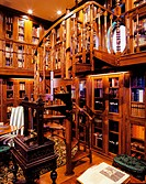 Personal library with spiral staircase