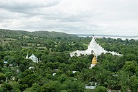 Overview from the Mingun Temple  Along the Irrawady river  Mingun  Sagaing Division  Burma  Republic of the Union of Myanmar.