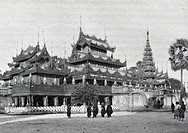 Golden convent of the queen  Temple carved teak wood, entirely covered with gold  In Mandalay, the last capital of the kings of Burma, Travel of Dr  K...
