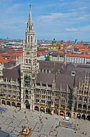 Munich, Neues Rathaus, New Town Hall, Marienplatz, Bavaria, Germany