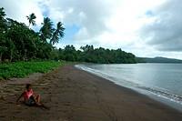 Fijian boy on Taveuni island, Fiji