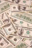 A multitude of hundred dollar bills