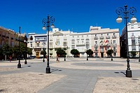 Cadiz Spain  Plaza San Antonio in the historic city of Cadiz