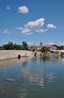 Brücke in Nin, Kroatien