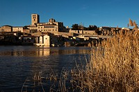 View of Zamora from Douro river  Spain