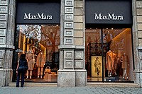 MaxMara shop, Paseo de Gracia, Barcelona, Catalonia, Spain