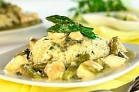 Asparagus Chicken Fricassee