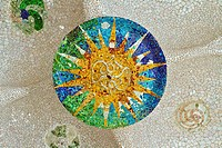 mosaic sun at Guell Park
