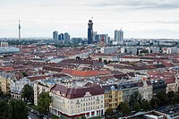 View of Viena from a giant wheel at the amusement parl in Vienna