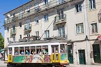 Tram, Rua da Graca, Graca, Lisboa, Lisbon, Portugal.