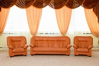 Leather armchairs and a sofa