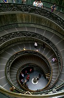 Vatican City  Rome Italy  Spiral staircase inside the Vatican Palace