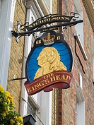 King's Head pub sign, London, England