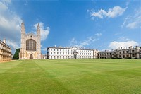 Gibbs building and Kings college chapel, Cambridge, England