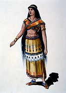 Pocahontas, Watercolor Painting by William L. Wells fo the Columbian Exposition Pageant, 1892
