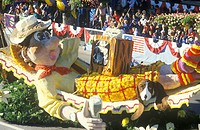 Float in Rose Bowl Parade, Pasadena, California
