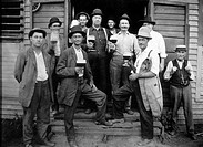Group of Working Men Drinking Beer, USA, Circa 1905