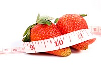 Strawberry fresh and tape measure