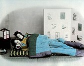 Two Japanese Women Lying in Bed, Circa 1870