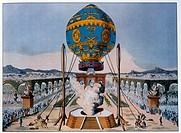 Etienne Montgolfier,s Balloon Ascent, Paris, France, 1783