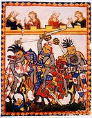 The Dukes of Anhalt Engage in a Tournament, 14th Century