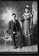 Couple, Portrait, Elgin, Nebraska, USA, Circa 1910