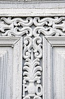 historical carved doors fragment background