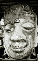 The Buddha at Wat Chedin in Chiang Mai in Thailand
