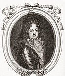 Philippe d'Orléans, Duke of Orléans and Duke of Chartres, 1674 – 1723  Member of the French royal family and Regent of the Kingdom  From Les Heures Li...