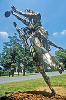 Metal sculpture, Rockville, Maryland