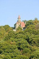 Castle in autumn along scenic Route 9 up the Hudson Valley, north of New York City