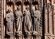 Statues ´Notre-Dame´ cathedral Strasbourg Alsace France