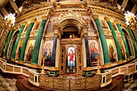 Saint Nicholas cathedral indoor in Saint Petesburg, Russian Federation