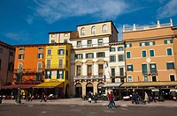 Piazza Bra square central Verona city the Veneto region northern Italy Europe
