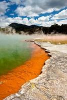 Wai-O-Tapu Wonderland Geothermal area at Wai-O-Tapu, Rotorua, North Island, New Zealand