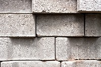 Detail of grey concrete blocks