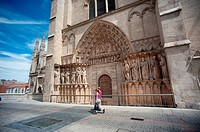 Back of the Cathedral of Burgos, Spain