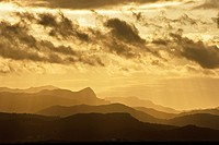 Sierra de Tramuntana from Sant Pere Colonya Arta Mallorca Balearic Islands Spain