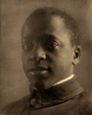Portrait of a young man wearing a Hampton Institute uniform. Platinum print photograph by F. Holland Day, c1905.